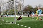 Česká fotbalová liga: FK Slavoj Vyšehrad - TJ Jiskra Ústí nad Orlicí.