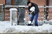 Návrat zimy v Ústí nad Orlicí.