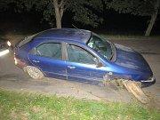 Dopravní nehoda v Bystříčku.