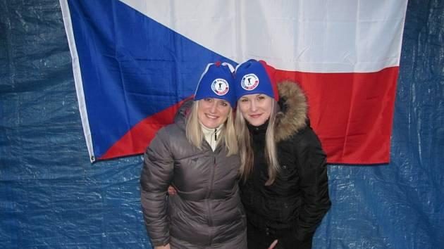 Rodina, příbuzenstvo a přátelé fandili Ondrovi Moravcovi i ostatním českým biatlonistům.