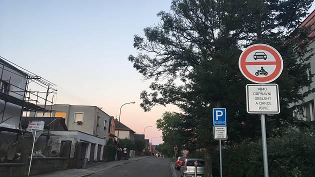 Ulice Jana a Josefa Kovářů v Ústí nad Orlicí.