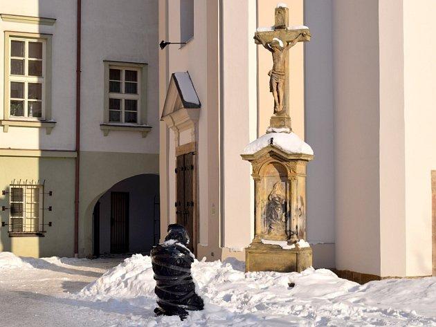 Socha Hříšníka v Lanškrouně.