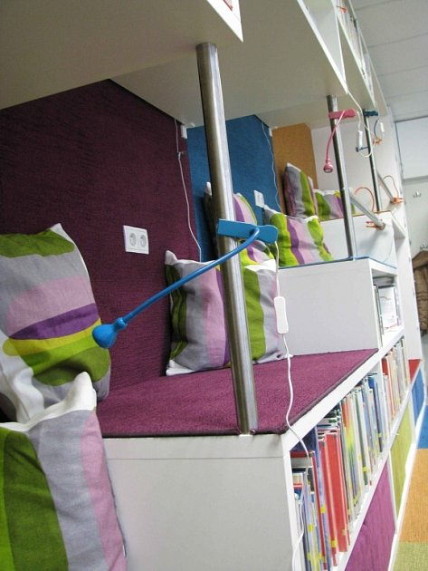 Teenspace, nové oddělení knihovny vČeské Třebové pro náctileté čtenáře.