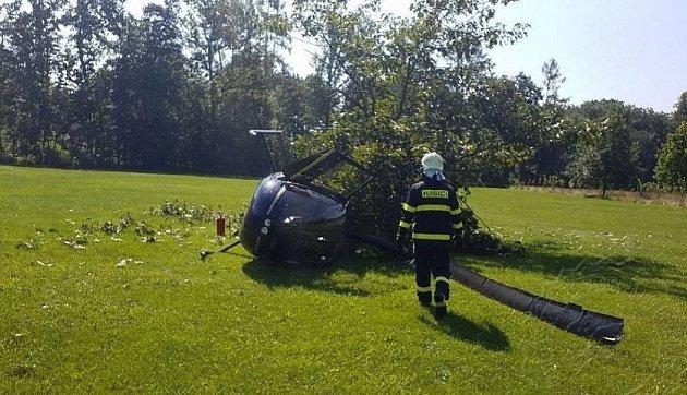 Vrtulník ze zřítil minulý rok vŽamberku.