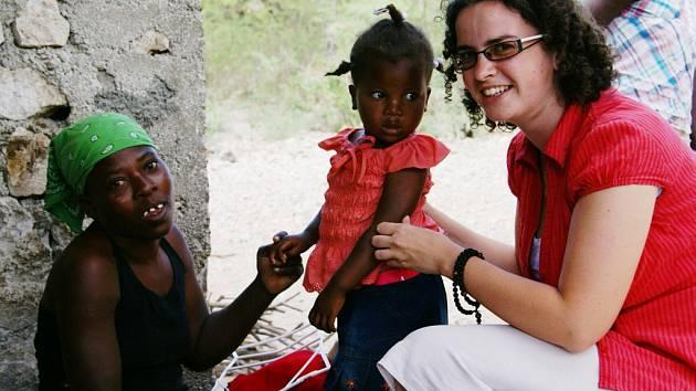 Anna Frühbauerová na Haiti.
