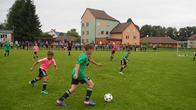 Kemp fotbalových nadějí v Dolní Čermné.