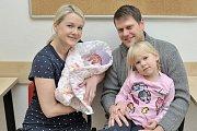 Agáta Moravcová je po Amélce dalším dítětem Petry a Pavla z Letohradu. Holčička se narodila 31. 1. v 17.12, kdy vážila 3,145 kg.