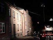 Požár bytového domu v Žamberku.