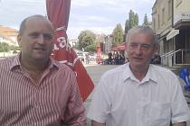 Starosta Letohradu Petr Fiala (vlevo) se starostou Daruvaru Daliborem Rohlikem.