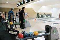 Z bowlingového turnaje pořádaného Oblastní kanceláří Orlicko Krajské hospodářské komory Pardubického kraje.