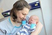 Martin Vaňous je po Járovi a Gábince třetím potomkem Jany a Jaroslava z Horních Libchav. S váhou 3,380 kg se narodil 9. května v 10.02 hodin.