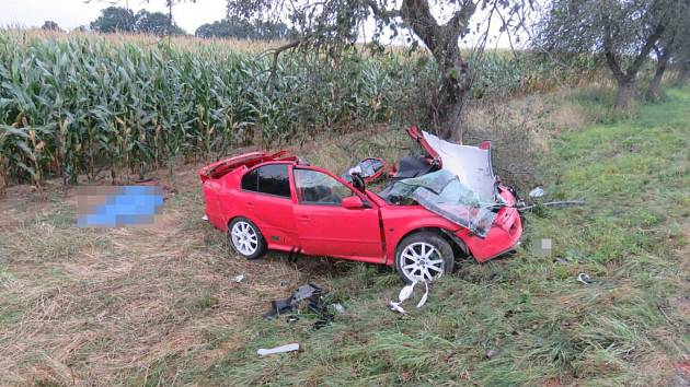 Tragická dopravní nehoda u obce Nepomuky.