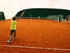 Nová tenisová hala v Ústí nad Orlicí.