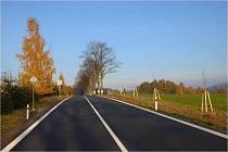 Rekonstruovaná silnice II/312 Pastviny – Mladkov.