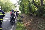 Víkend plný sluníčka využili motorkáři, ale ne všichni dojeli s dobrým koncem.