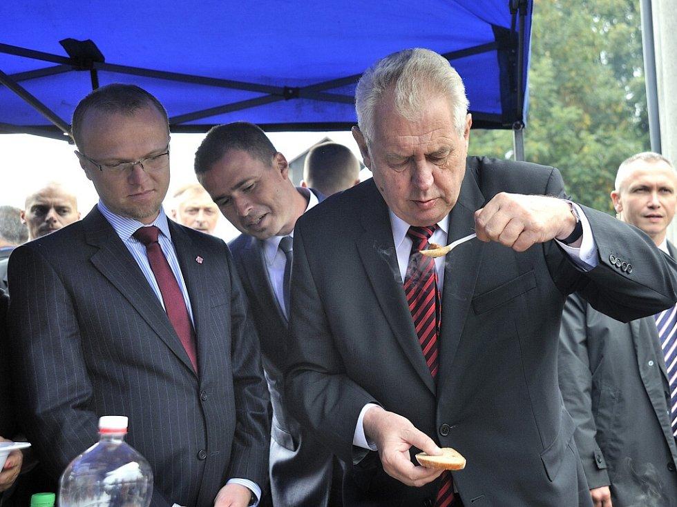 Prezident Miloš Zeman v Přívratu.
