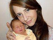 Tereza Němečková je první holčička Natálie a Jakuba z Vysokého Mýta. Narodila se 6. 1. v 14.57 hodin a vážila 2740 g.