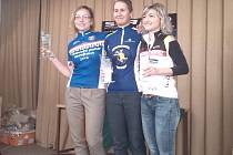 Cyklistka Monika Simonová (na snímku vlevo) se stala celkovou vítězkou extraligy Masters (kategorie žen nad 30 let) a také Moravské poháru.
