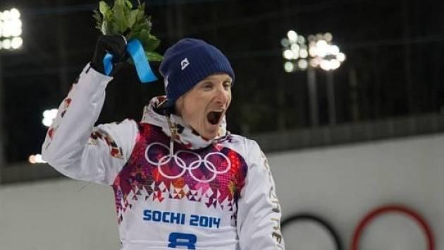 Ondřej Moravec neskrývá radost z olympijského stříbra.