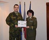 Příslušníci AZ Odboru biologické ochrany Těchonín přispěli do Vojenského fondu solidarity.