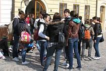 Studenti z italského Vimercate v České Třebové.