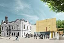 Vizualizace: nový kulturní dům v Lanškrouně.
