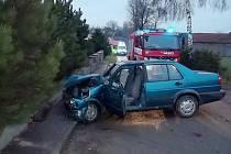Dopravní nehoda v Horním Třešňovci.