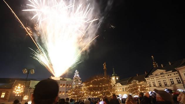 V Ústí nad Orlicí se konec roku 2018 slavil v centru města.