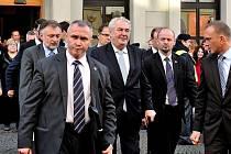 Prezident Miloš Zeman při návštěvě Chocně.