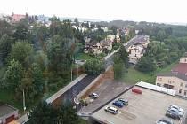 Řádění větru v Ústí nad Orlicí.