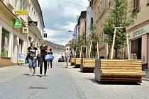 Ulice T. G. Masaryka v Ústí nad Orlicí po rekonstrukci.