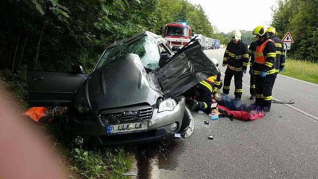 Dopravní nehoda vŽamberku.