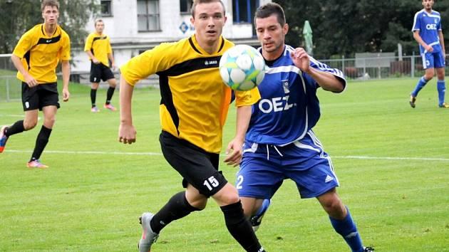 Divizní fotbalisté OEZ Letohrad.