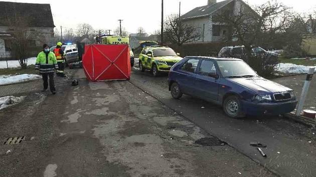 23. února odpoledne došlo na silnici v Horním Třešňovci k nehodě.