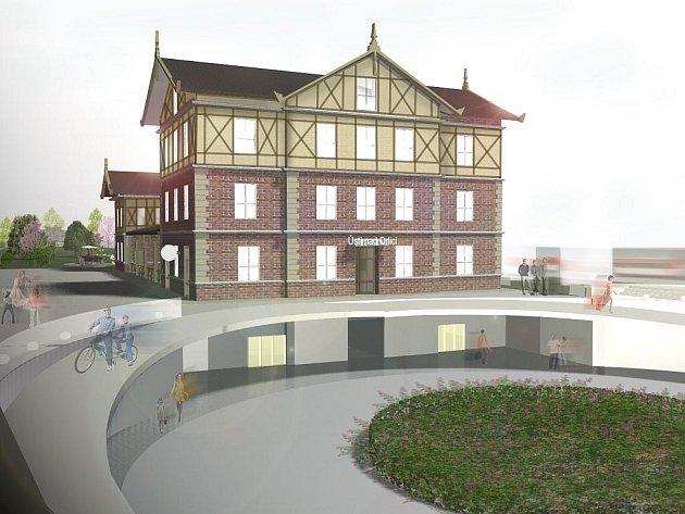 HLAVNÍ VLAKOVÉ NÁDRAŽÍ v Ústí nad Orlicí, kterému nedávno hrozila demolice, by mohlo získat moderní podobu. Jednu z možných podob předložila studentka liberecké architektury Daniela Pápajová.
