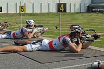 Mistrovství republiky v biatlonu na horských kolech.