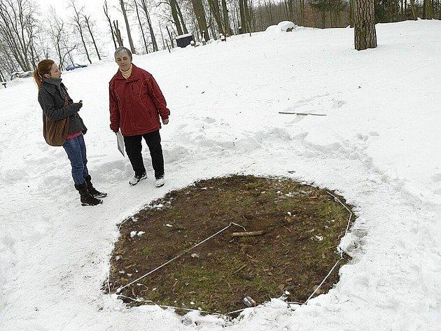 Zajímavý úkaz u Zámečku v Rudolticích.
