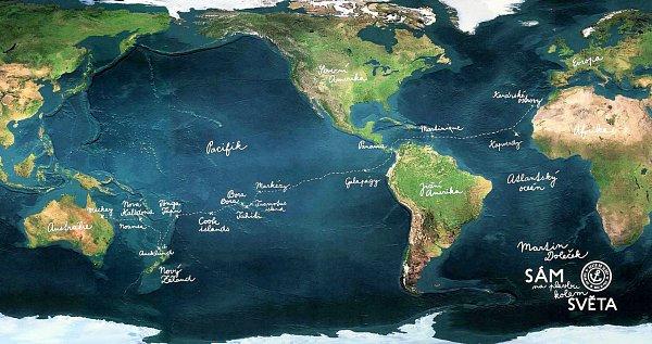 Martin Doleček si přezdívá 'námořní svéráz' a plní si svůj sen: obeplout svět.