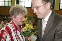 Marie Pechancová s Václavem Moravcem.