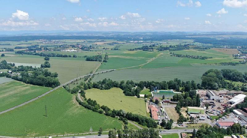 Pohled z jihozápadu na Slatinu, Zdroj: Vysoké Mýto