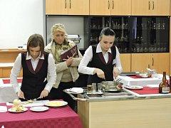 Soutěž v gastronomických dovednostech v ISŠ Moravská Třebová.