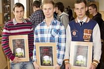 Letošní výherci: zleva: Jakub Kalenský, Karel Ježík, Martin Rendár.