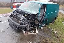 Ve středu 11. března kolem deváté hodiny ráno se stala u Rozhraní  těžká dopravní nehoda dvou dodávek.