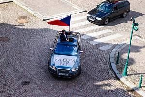 Protestní jízda po vysokomýtském náměstí, Foto: Renata Jílková, FotíRna