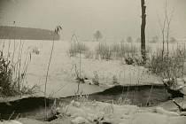 Julie Jirečková, Zákoutí řeky Loučné v zimě, nedat., bromostříbrná fotografie, sbírky Regionálního muzea ve Vysokém Mýtě.