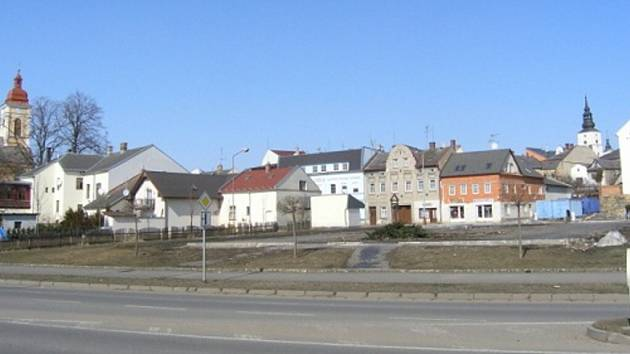 Pozemky v Lanškrouně, na kterých dříve stála tržnice.