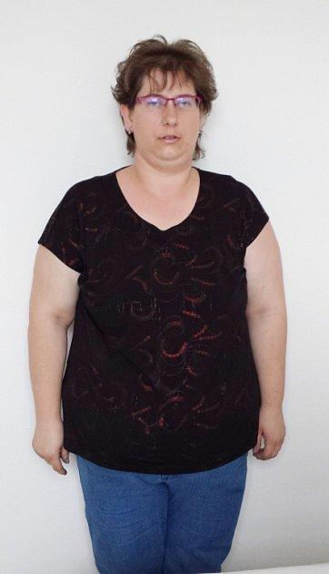 Ludmila Čapková před zahájením diety.
