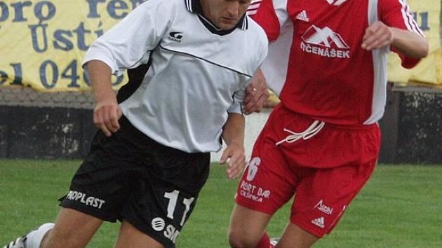 Sestupující Ústí remizovalo v posledním domácím utkání sezony se Sedmihorkami 1:1. Ilustrační fotografie.