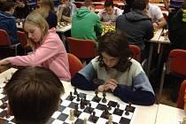 Krajské kolo přeboru družstev škol v šachu ve Svitavách.