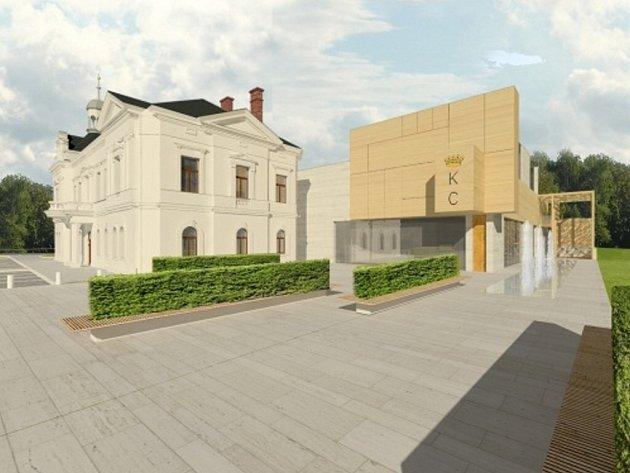 Vizualizace nového kulturního domu v Lanškrouně.